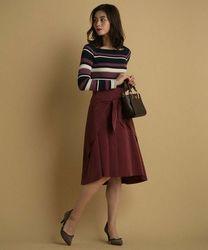 【大人女子必見】ボルドーカラースカートが超優秀なんです♡