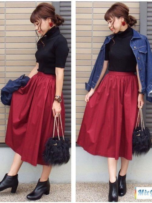 【保存版】スタイルアップを叶えるスウェットタイトスカートコーデ♥の11枚目の画像