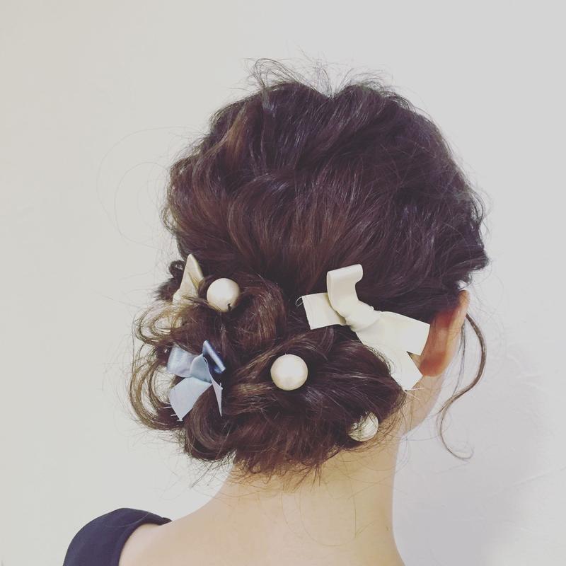 リボンやパールを材料に簡単かわいい♡【手作りヘアアクセサリー】