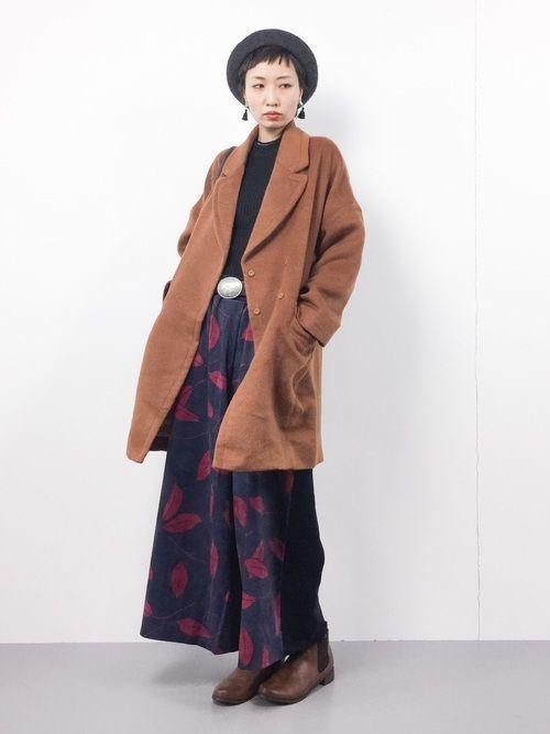 ロングスカート×コートが最強♡この秋冬に使えるコーデ集19選の20枚目の画像