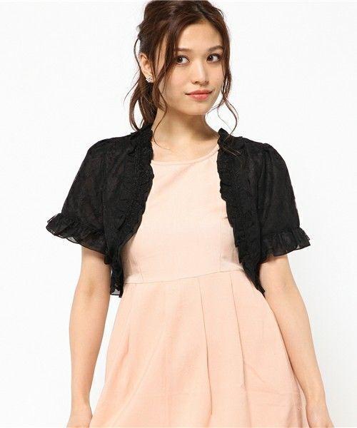 b6aaecb63e7ea まずご紹介するのは黒のレースボレロ♩ピンクのドレスと合わせると華やかなコーデになります。ブライダル用のドレスには露出度の高いものが多いですよね。