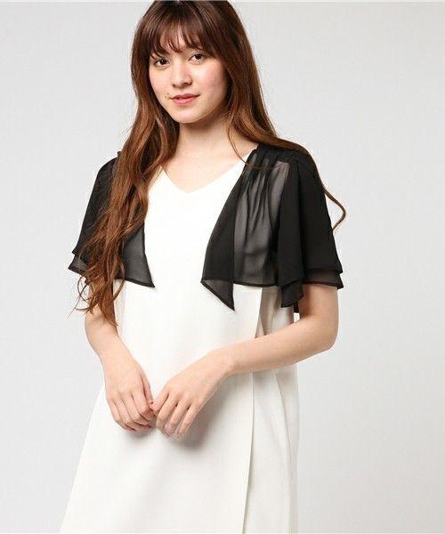 8b4bf3e716b30 白のドレスを買ってしまった方におすすめの組み合わせ、黒のレースボレロです。ブライダルのドレスではボレロ以外にもシューズやヘアアクセ、クラッチなど小物が多い  ...