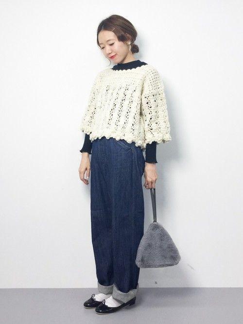 ざっくりな編み目が旬!【透かし編みニット】でさりげない色気を♡