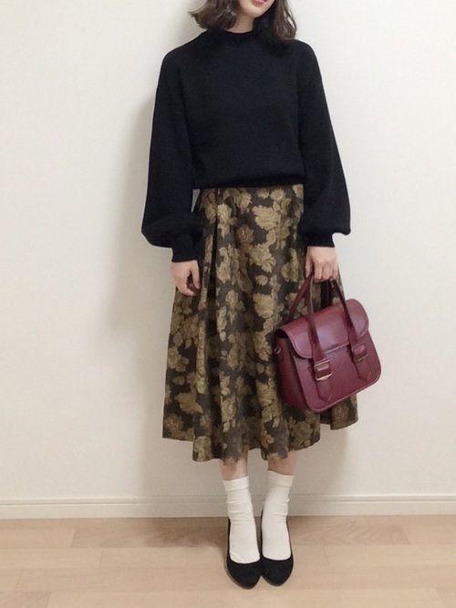 女子がトキメク♡最旬コーデはゴブラン柄スカートできまり!