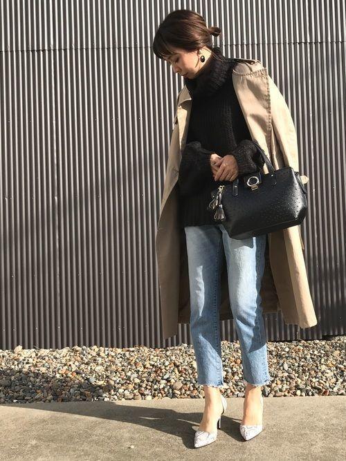 「冬トレンチ」のすすめ♡冬のトレンチコート着こなし10選の3枚目の画像