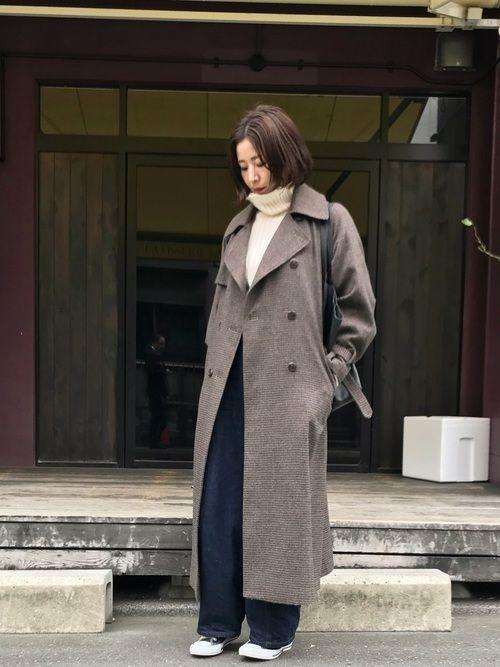 「冬トレンチ」のすすめ♡冬のトレンチコート着こなし10選の9枚目の画像
