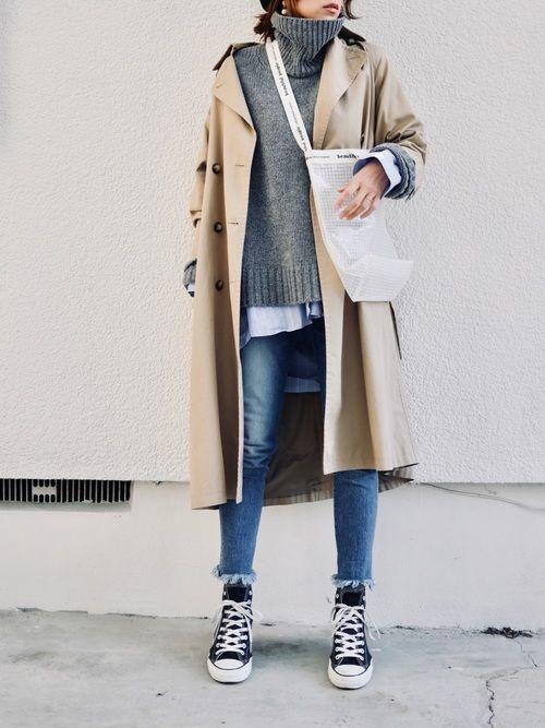 「冬トレンチ」のすすめ♡冬のトレンチコート着こなし10選の1枚目の画像