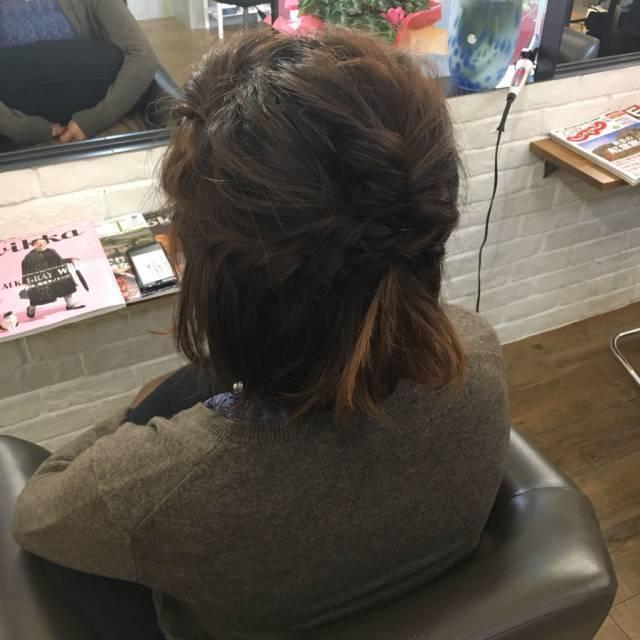 自宅でかわいく簡単に♪自分でできるボブのヘアアレンジ特集♡の2枚目の画像