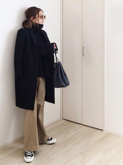 気になるワイドパンツと相性のいいコートとは?着こなしコーデ紹介♡