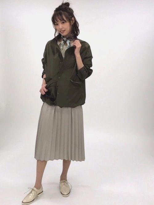 2018年春を先取り!プリーツスカートで作る最旬春コーデ♡の4枚目の画像