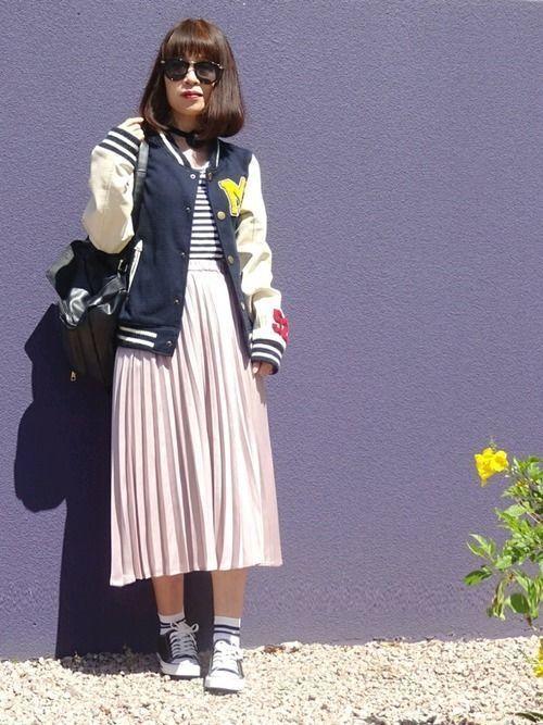 2018年春を先取り!プリーツスカートで作る最旬春コーデ♡の9枚目の画像