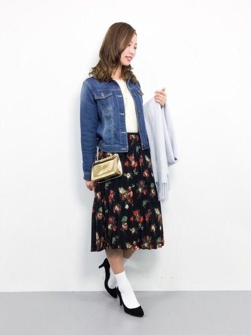 2018年春を先取り!プリーツスカートで作る最旬春コーデ♡の13枚目の画像