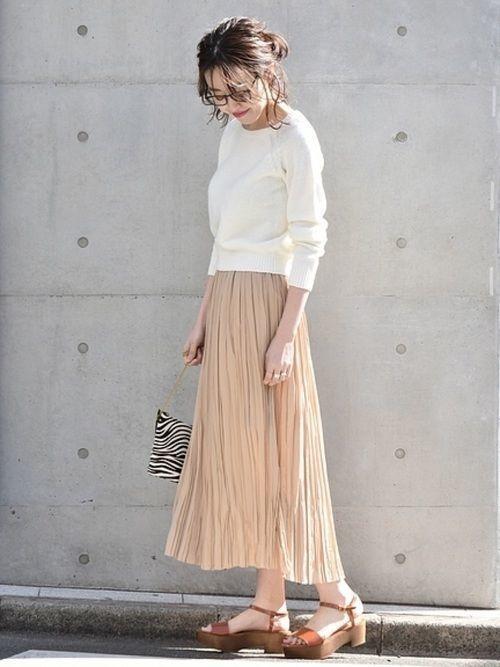 2018年春を先取り!プリーツスカートで作る最旬春コーデ♡の14枚目の画像