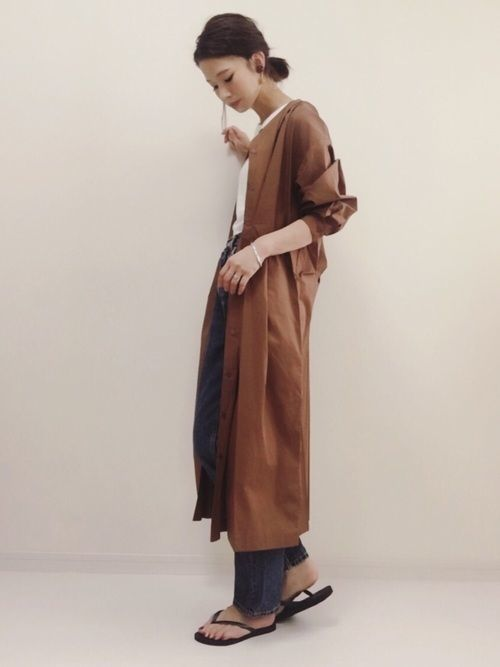華奢感はコーデで作れる!シャツワンピで華奢見えコーデを着まわそうの9枚目の画像
