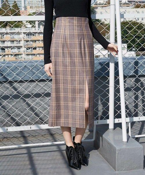 モテ服♡スリット×タイトスカートでスタイルアップの肌見せコーデの5枚目の画像