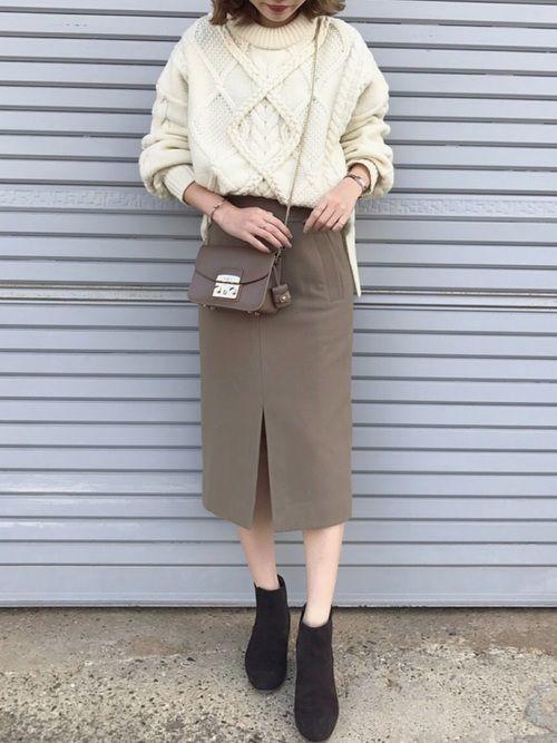 【春夏秋冬】タイトスカート(ミニ・ロング)の着回しコーデ術♡の20枚目の画像