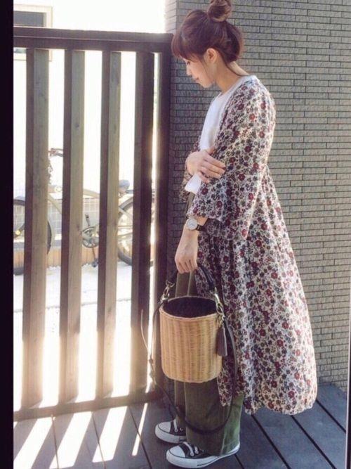 【春夏秋冬】花柄ガウンで雰囲気チェンジ♪心躍るようなコーデ15選の1枚目の画像