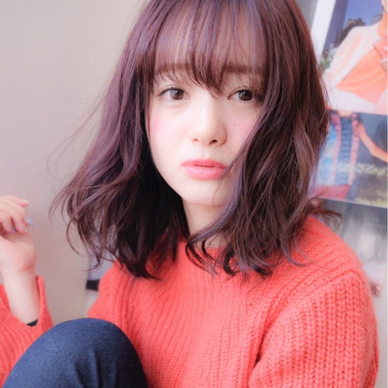 バレンタインは暗めの赤のヘアカラーで決まり♡