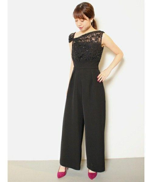 c3984c1ed7a18 パンツドレスって知ってますか?パンツドレスはパーティーでみんなと差を付けれちゃうアイテムなんですよ!女性らしいスカートタイプのワンピースとは違ってクールさと  ...
