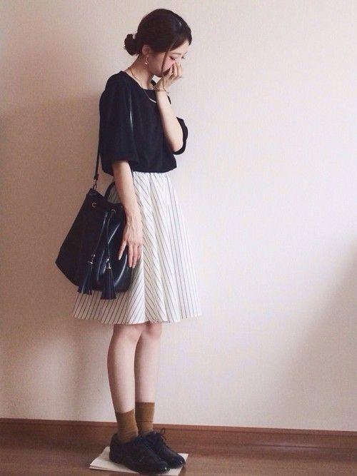 1着はもっていたい!ストライプスカートで作る旬顔コーデ25選♡の3枚目の画像
