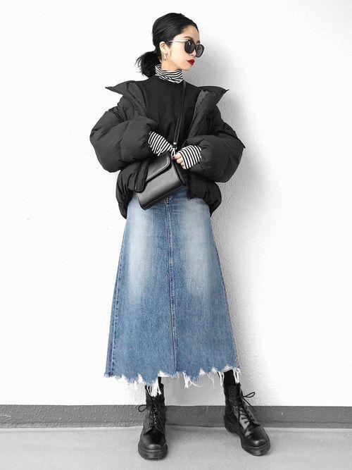 ロング【デニムスカート】で女っぽさを狙う♡カジュアル美人コーデの3枚目の画像