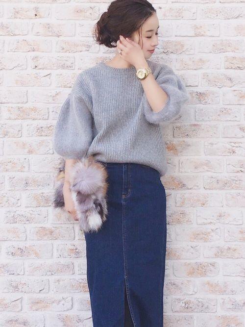 ロング【デニムスカート】で女っぽさを狙う♡カジュアル美人コーデの9枚目の画像