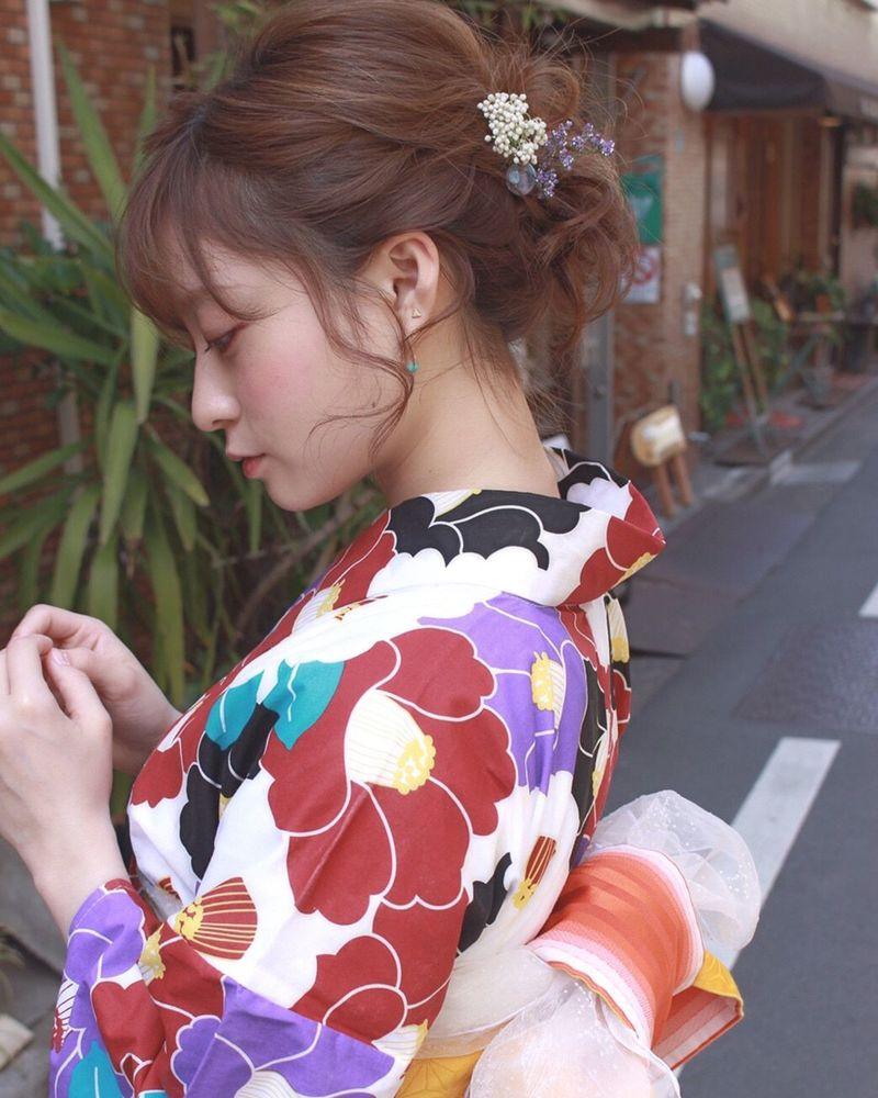 【浴衣に合う髪型】ショート・ミディアム・ロング別!簡単アレンジ集