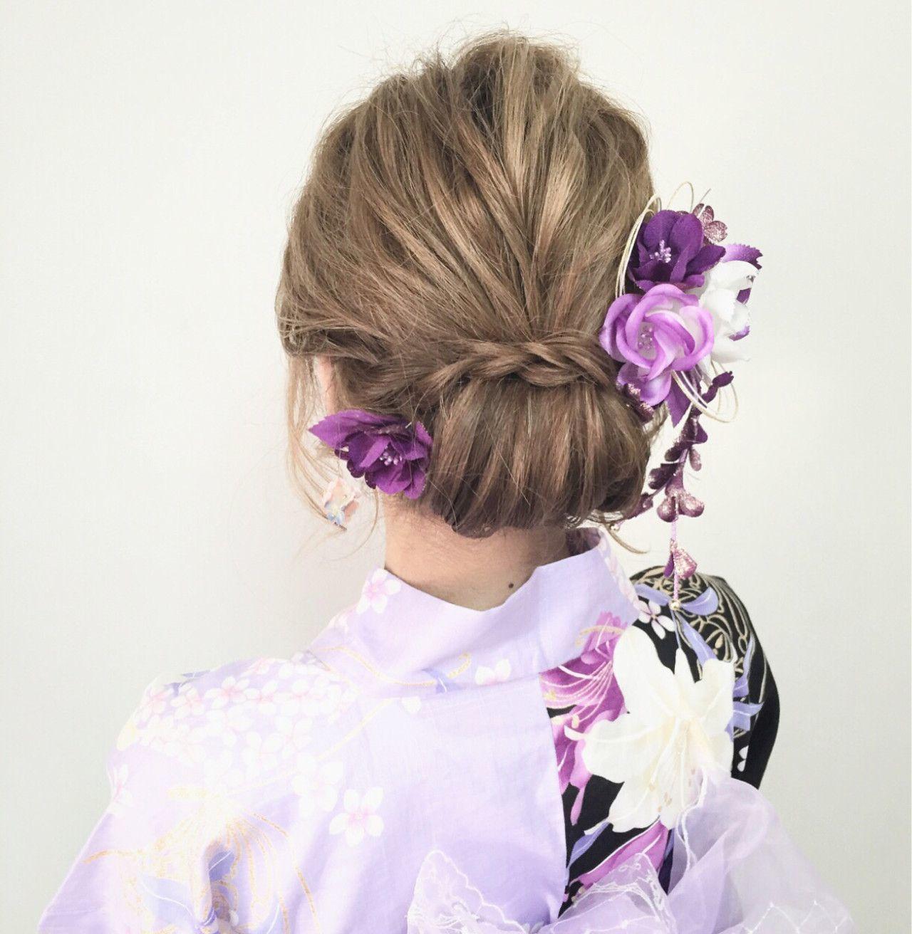 女の子 浴衣 髪型