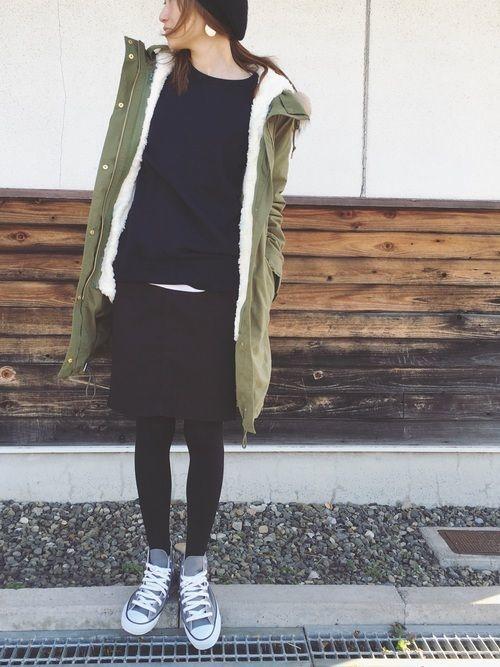 ユニクロのトレーナースウェットを着まわす♡レディースコーデ18選の10枚目の画像