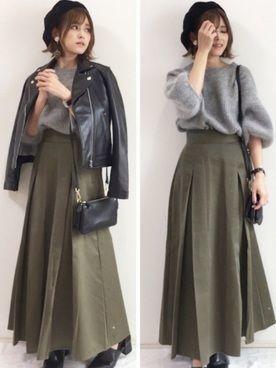 媚びないスタイルが人気♡甘辛コーデで楽しむファッションの4枚目の画像