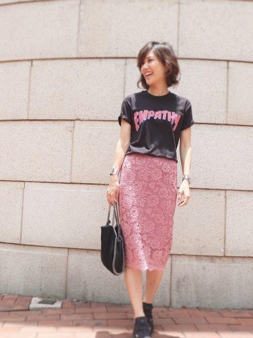 媚びないスタイルが人気♡甘辛コーデで楽しむファッションの9枚目の画像