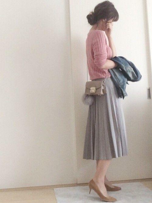 今日のあの子可愛くない?ユニクロのプリーツスカート着まわし術♡の7枚目の画像