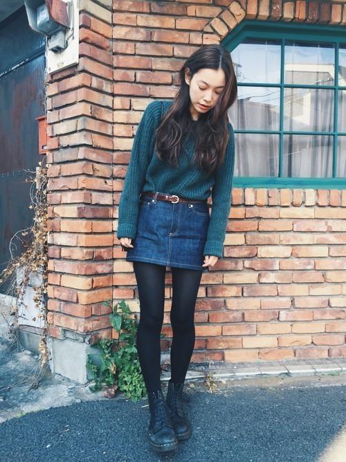 デニムスカートといえば、やっぱ【ミニ】!おしゃれな春コーデ特集♡の2枚目の画像