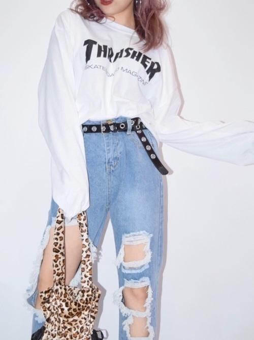 ボトムス難民の救世主は【ベルト】手持ちのジーンズおしゃ見せ計画♡の1枚目の画像
