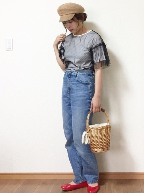 おしゃれさんは手抜きしない!デザイン性重視のTシャツコーデ♡の5枚目の画像