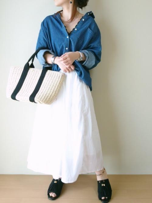春夏秋冬いつでもデニムシャツ♡レディースコーデ特集