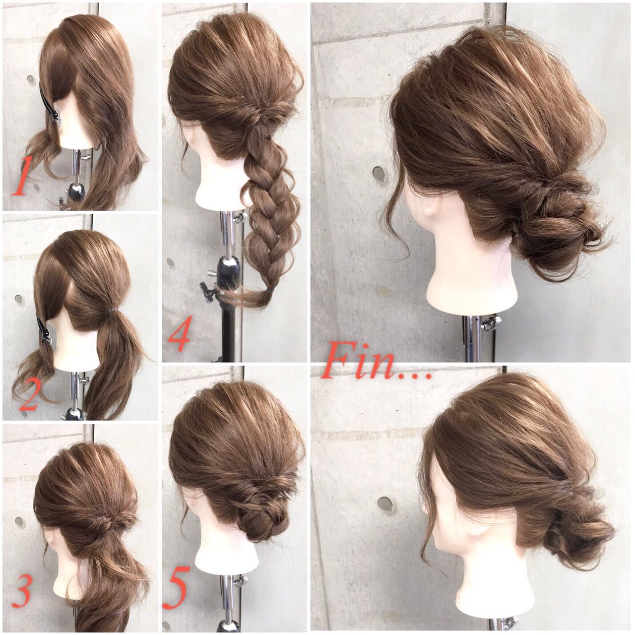 【ロングヘア】披露宴用髪型♡簡単セルフアレンジ