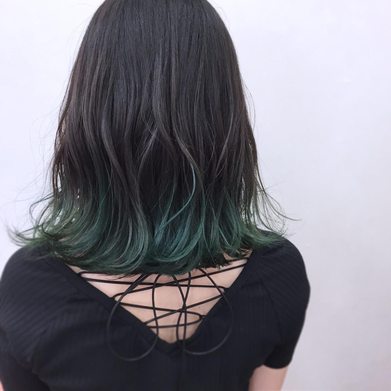 緑の髪色で作る透明感♡ナチュラル個性派髪色に挑戦したいアナタに♡の4枚目の画像