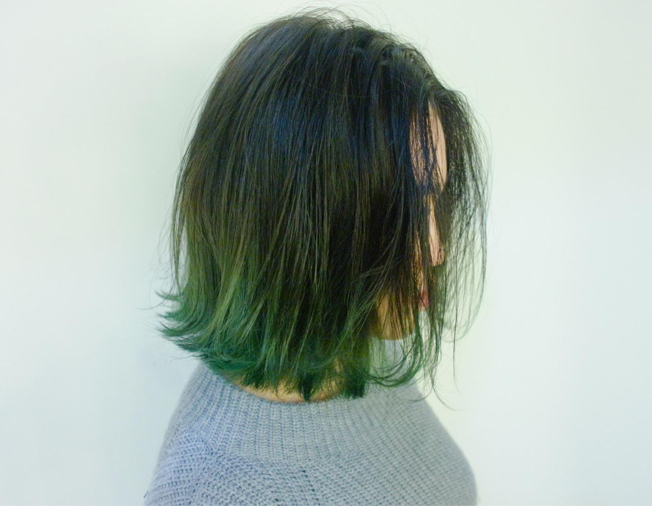 緑の髪色で作る透明感♡ナチュラル個性派髪色に挑戦したいアナタに♡の5枚目の画像