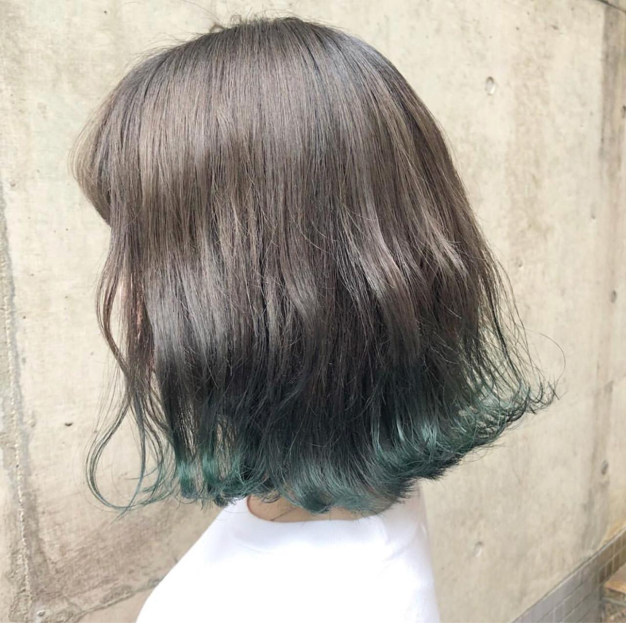 緑の髪色で作る透明感♡ナチュラル個性派髪色に挑戦したいアナタに♡の7枚目の画像