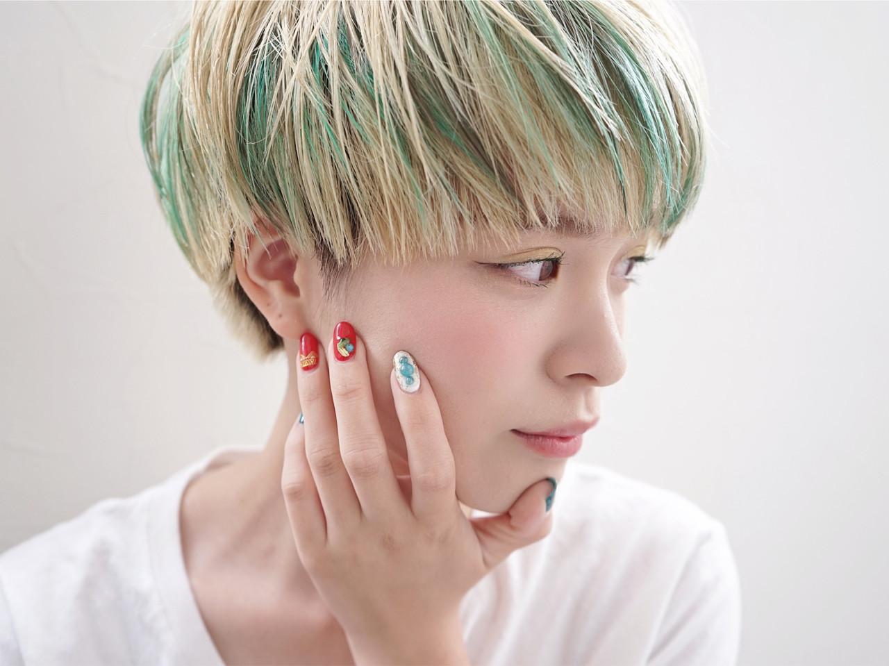 緑の髪色で作る透明感♡ナチュラル個性派髪色に挑戦したいアナタに♡の9枚目の画像