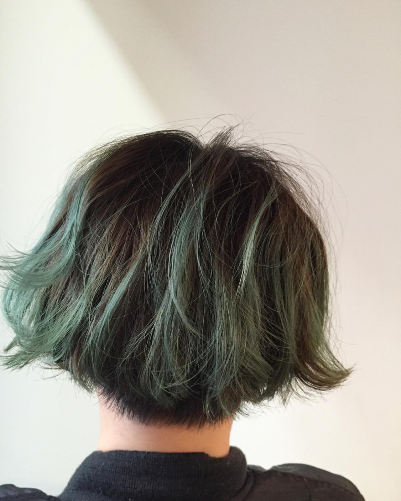 緑の髪色で作る透明感♡ナチュラル個性派髪色に挑戦したいアナタに♡の10枚目の画像