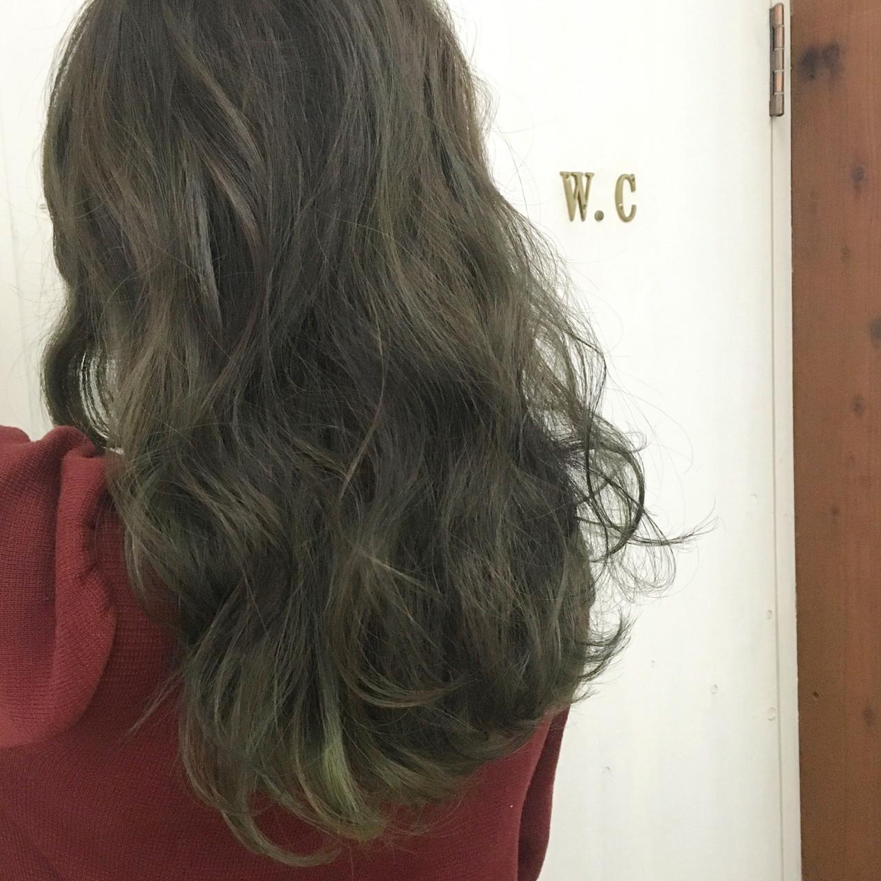 緑の髪色で作る透明感♡ナチュラル個性派髪色に挑戦したいアナタに♡の12枚目の画像