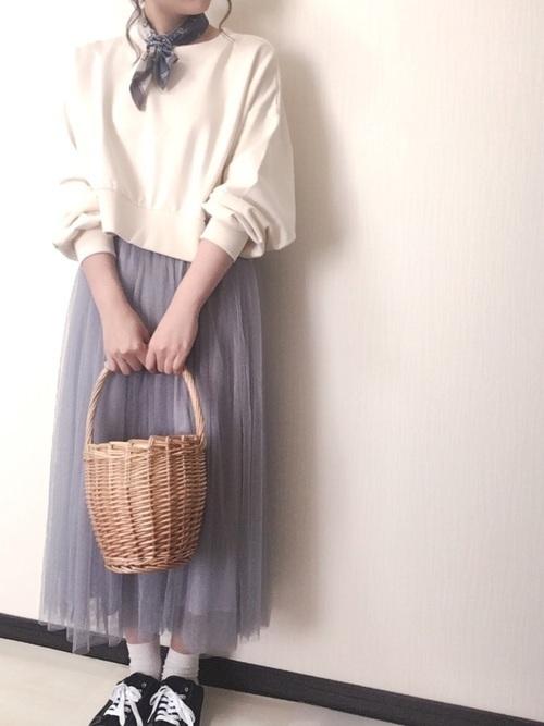 レディース必見!【チュールスカート】の旬な着こなしバッチリ講座♡の21枚目の画像