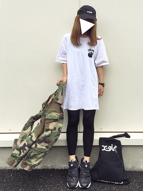話題のマストアイテム「STUSSY」のTシャツはこう着るべし♡の5枚目の画像