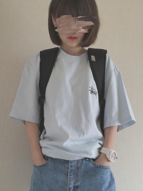 話題のマストアイテム「STUSSY」のTシャツはこう着るべし♡の7枚目の画像