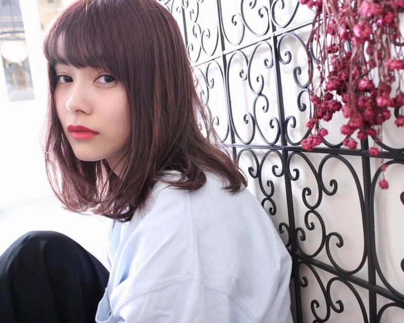 【注目】ふわり甘さあふれるラベンダーピンクカラーのヘアカタログ♡