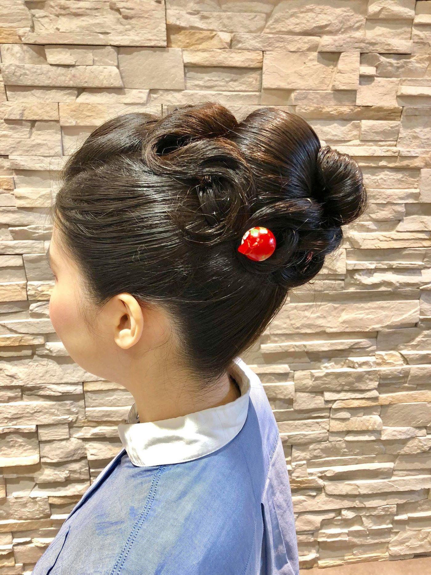 和装デートは夜会巻きで決まり♡夜会巻きヘアアレンジ特集の11枚目の画像