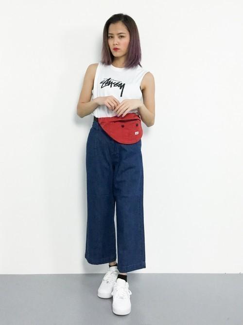 話題のマストアイテム「STUSSY」のTシャツはこう着るべし♡の9枚目の画像