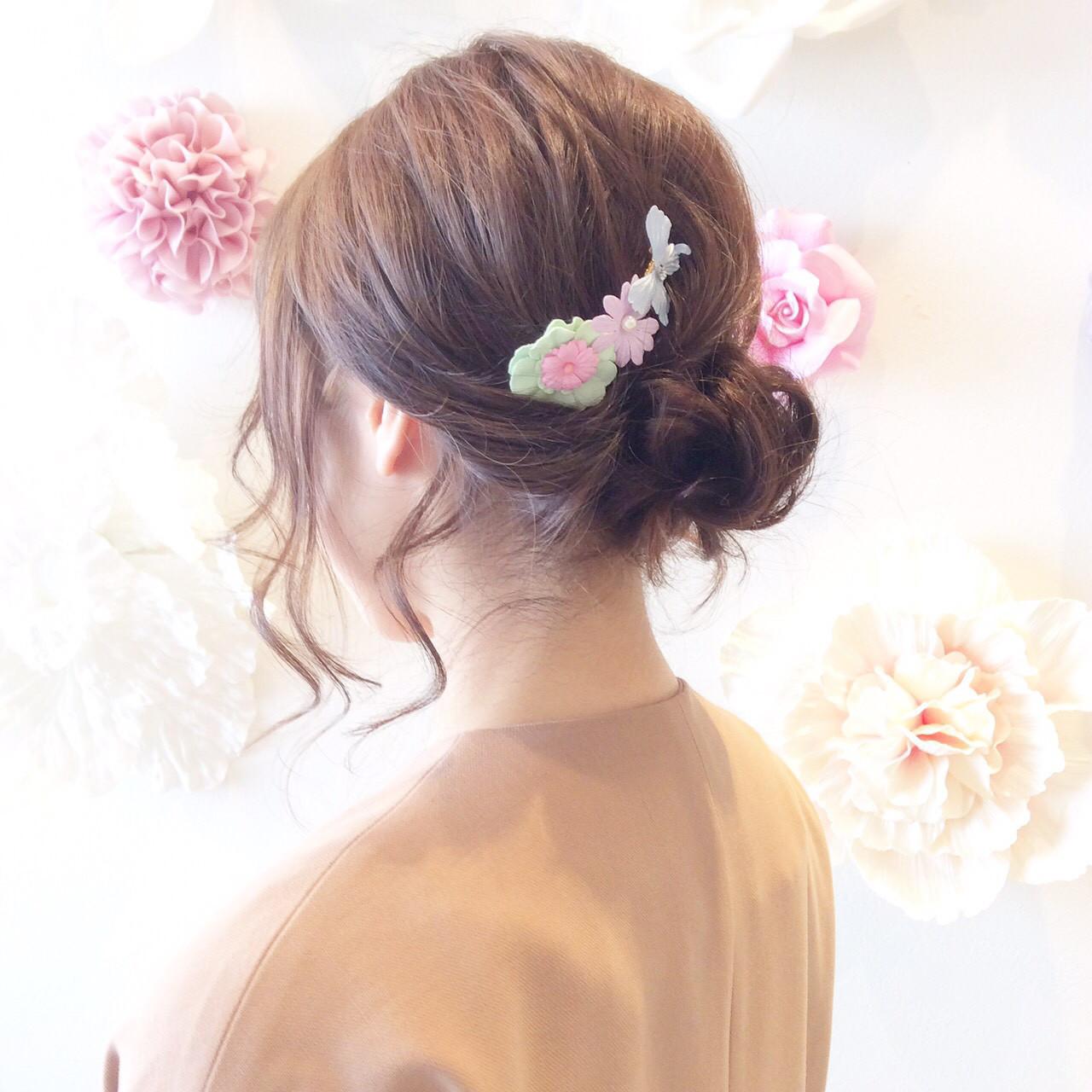 コームの髪飾り。成人式・卒業式・イベントはコームでワンポイント♡の2枚目の画像
